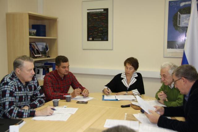 Слева направо: А.Маланкин, Ю. Блохин, Л. Виноградова, В. Гефтер, А. Листков